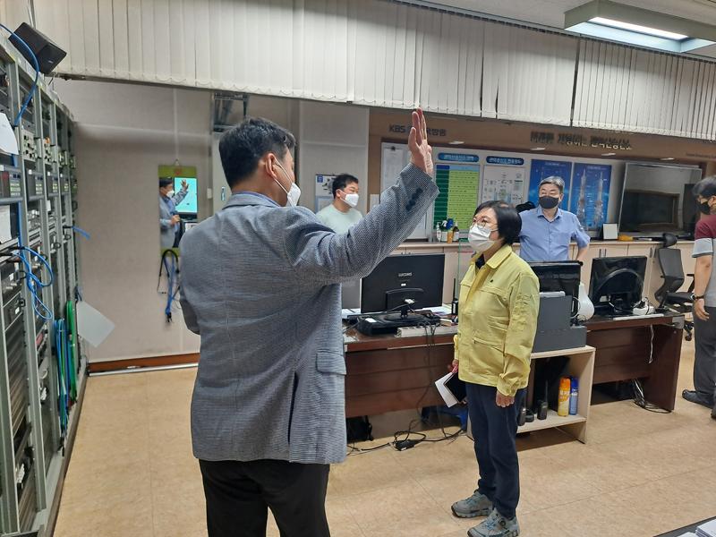부위원장, KBS 송신소 점검